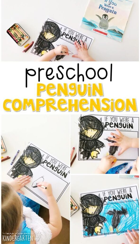 "Practice responding to reading with this adorable ""If You Were a Penguin"" book by Florence Minor. Great for a penguin or winter theme in tot school, preschool, or even kindergarten!"