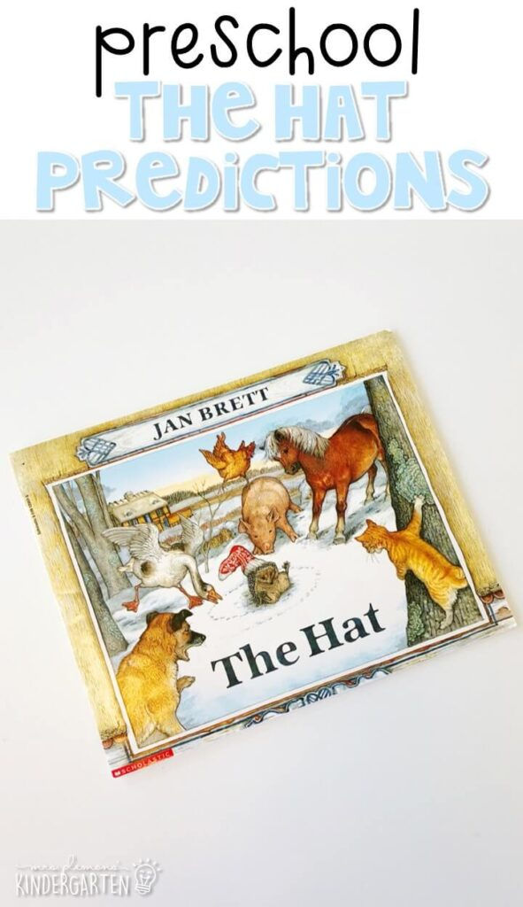 "Practice making predictions with ""The Hat"" by Jan Brett. Great for a winter theme in tot school, preschool, or even kindergarten!"