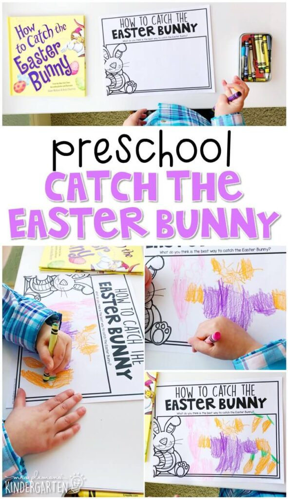 """Practice responding to reading with """"How to Catch the Easter bunny"""" by Adam Wallace. Great for spring in tot school, preschool, or even kindergarten!"""
