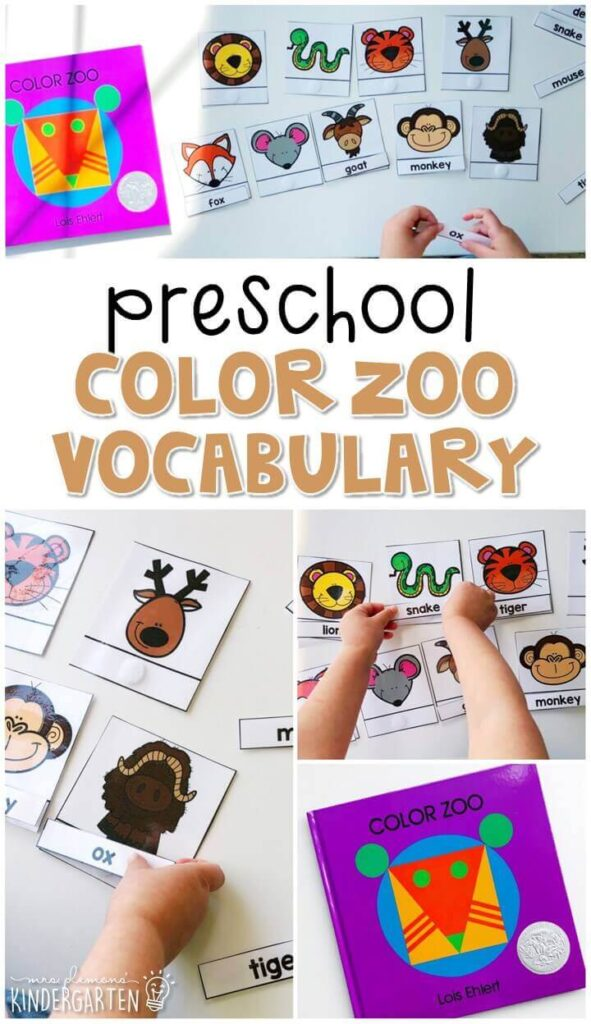 Practice zoo animal vocabulary with this vocabulary cards matching activity. Great for a zoo theme in tot school, preschool, or even kindergarten!