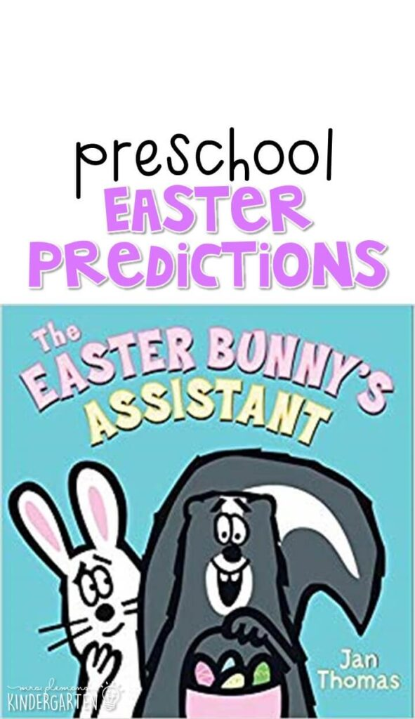 """Practice making predictions with """"The Easter Bunny's Assistant"""" by Jan Thomas. Great for an Easter theme in tot school, preschool, or even kindergarten!"""