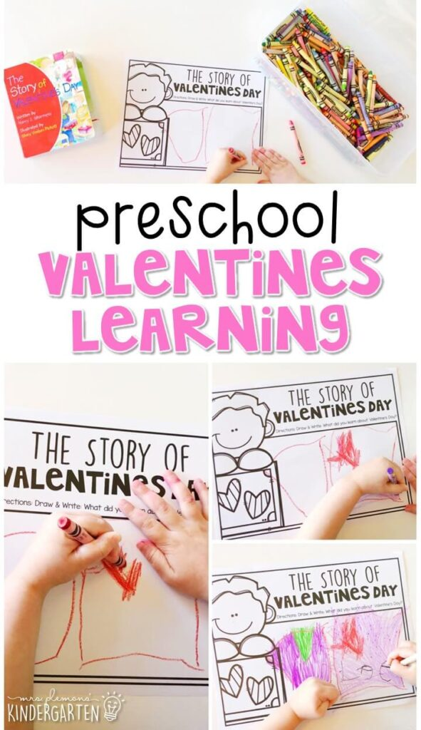 "Practice responding to reading with ""The Story of Valentine's Day"" by Nancy J. Skarmeas. Great for a valentines theme in tot school, preschool, or even kindergarten!"