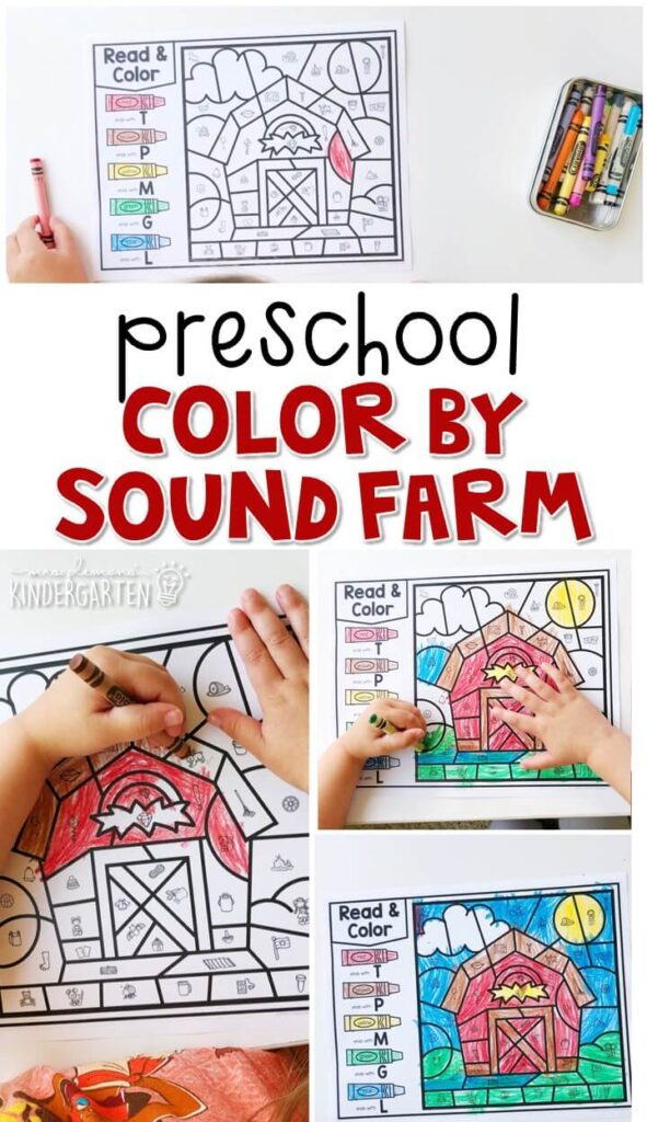 This color by sound farm activity is great for identifying ending sounds and fine motor practice. Great for a farm theme in tot school, preschool, or even kindergarten!
