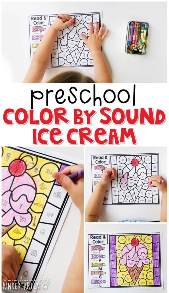 This color by sound ice cream activity is great for identifying ending sounds and fine motor practice. Great for a farm theme in tot school, preschool, or even kindergarten!