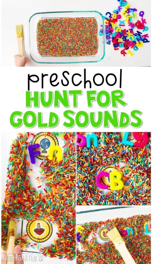 This hunt for gold sounds activity is a fun and easy way to work on ending sounds with a St. Patrick's Day theme. Great for spring in tot school, preschool, or even kindergarten!