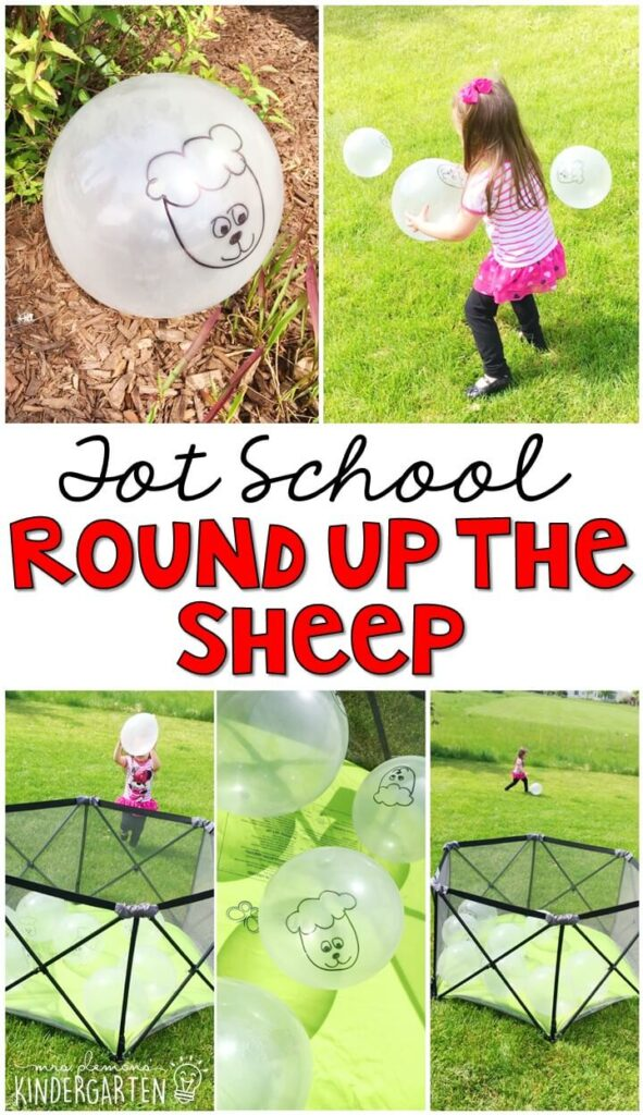 Learning is more fun when it involves movement! Round up all the sheep in this fun farm themed gross motor activity! Great for tot school, preschool, or even kindergarten!