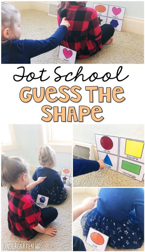 Learning is more fun when it involves movement! Practice using your sense of touch with this guess the shape activity. Great for a five senses theme in tot school, preschool, or even kindergarten!