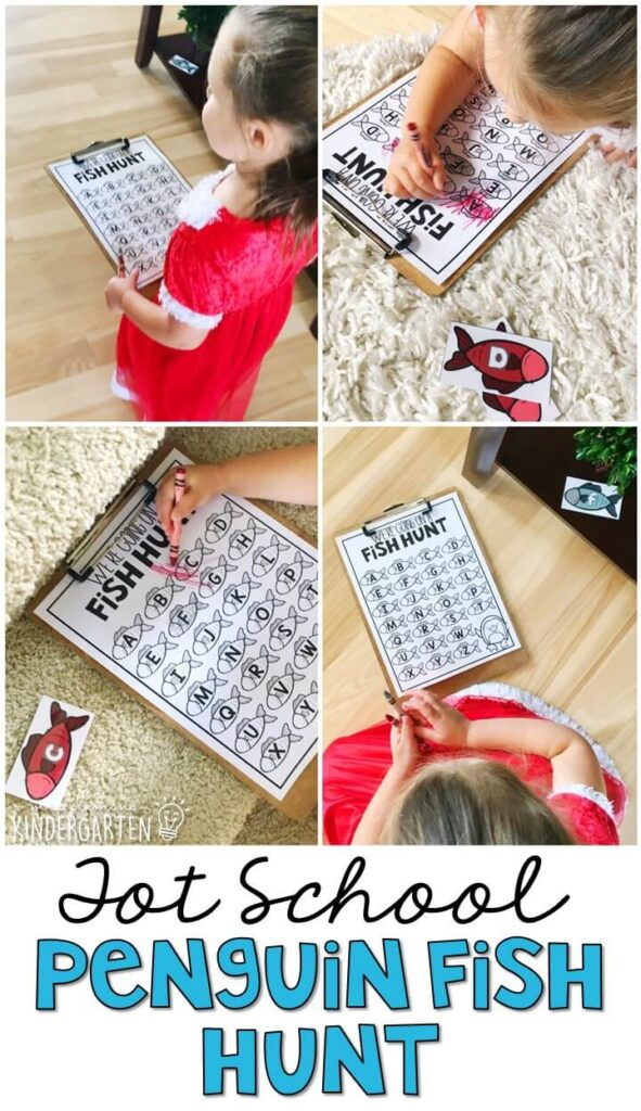 Tons of penguin themed activities and ideas. Weekly plan includes books, fine motor, gross motor, sensory bins, snacks and more! Perfect for tot school, preschool, or kindergarten.
