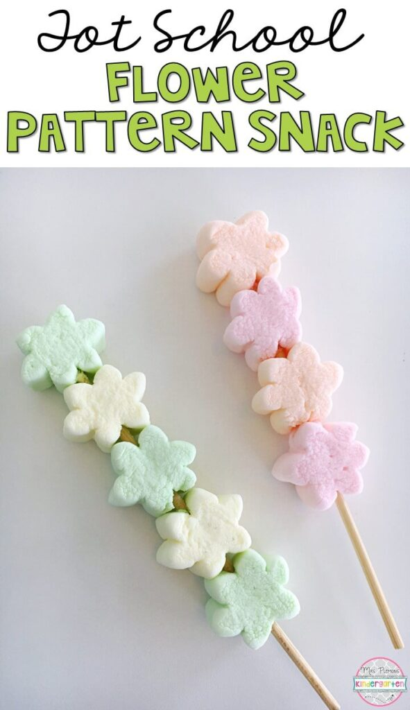 These yummy snacks are perfect for a plant theme in tot school, preschool, or kindergarten!