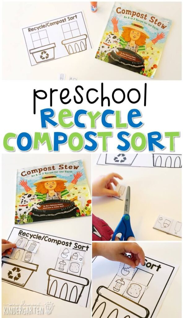 This recycle compost sort activity is a great way to practice sorting with an Earth Day theme. Great for spring in tot school, preschool, or even kindergarten!