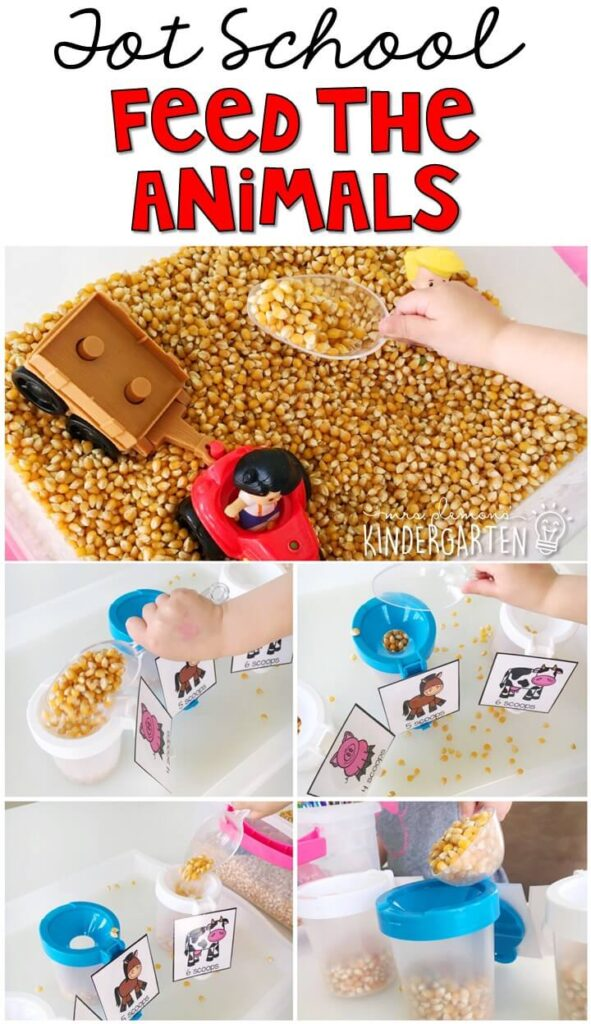 We LOVE this feed the animals sensory bin. So much fun to play with and explore! Great for a farm theme in tot school, preschool, We LOVE this feed the animals sensory bin. So much fun to play with and explore! Great for a farm theme in tot school, preschool, or even kindergarten!or even kindergarten!