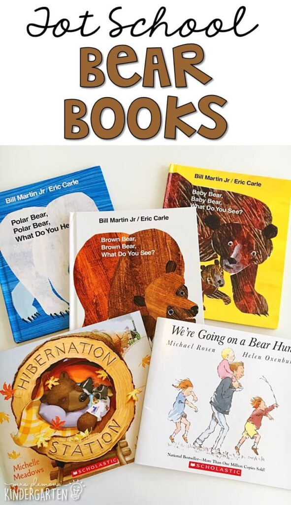 5 great books to read aloud for a bear theme. Perfect for tot school, preschool, or even kindergarten.