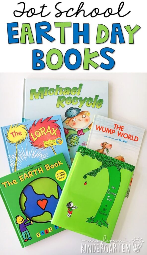 5 great books to read aloud for an earth day theme. Perfect for tot school, preschool, or even kindergarten.