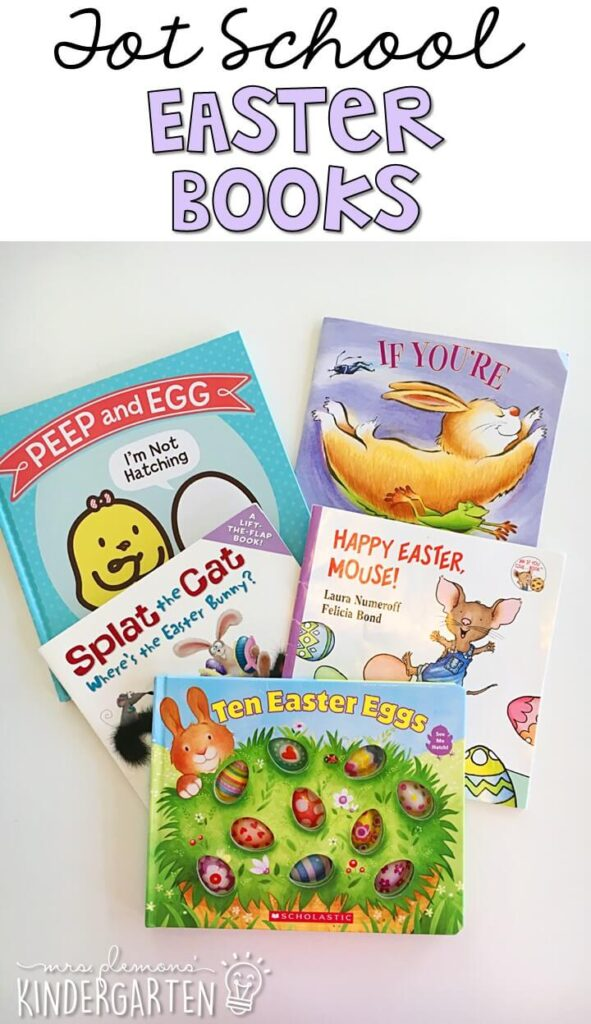5 great books to read aloud for a Easter theme. Perfect for tot school, preschool, or even kindergarten.