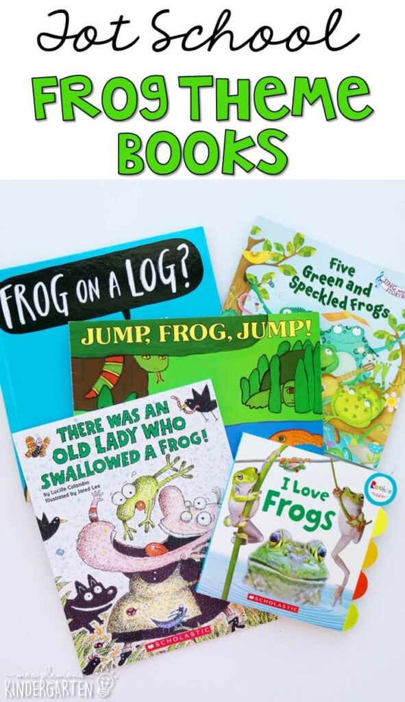 5 great books to read aloud for a frog theme. Perfect for tot school, preschool, or even kindergarten.