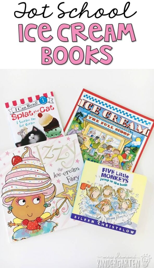 5 great books to read aloud for a ice cream theme. Perfect for tot school, preschool, or even kindergarten.