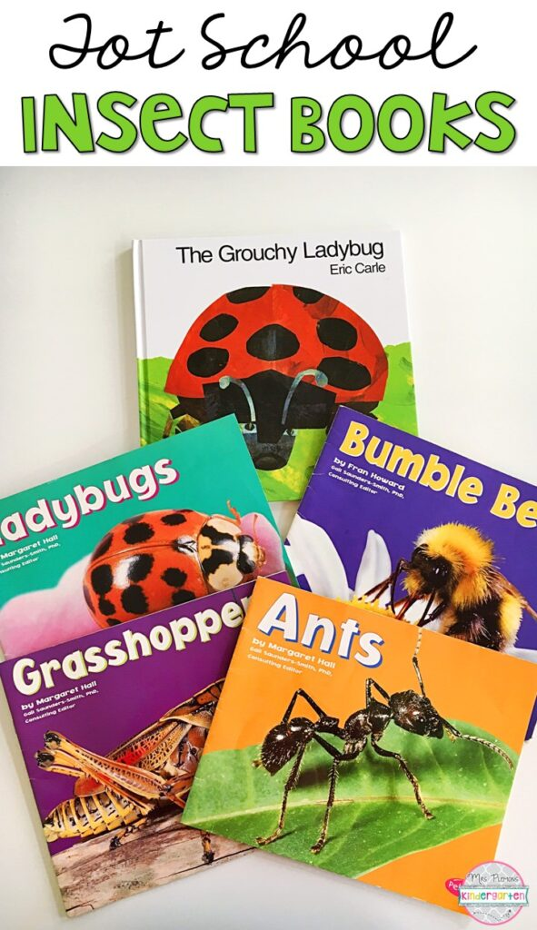 5 great books to read aloud for an insect theme. Perfect for tot school, preschool, or even kindergarten.