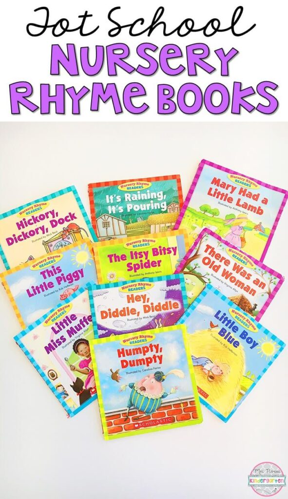 10 great books to read aloud for a nursery rhyme theme. Perfect for tot school, preschool, or even kindergarten.