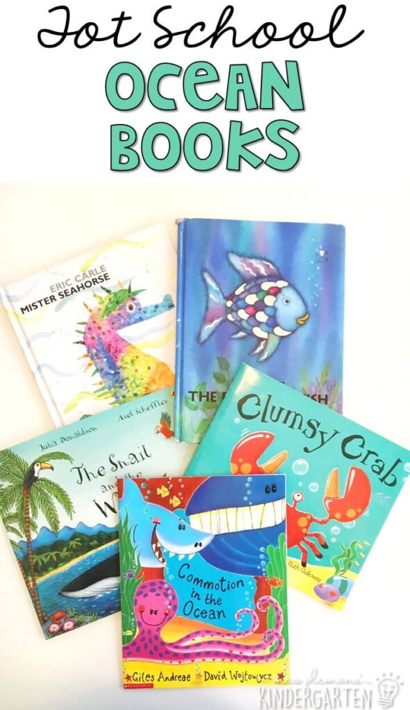 5 great books to read aloud for a ocean theme. Perfect for tot school, preschool, or even kindergarten.