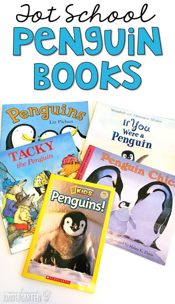 5 great books to read aloud for a penguin theme. Perfect for tot school, preschool, or even kindergarten.