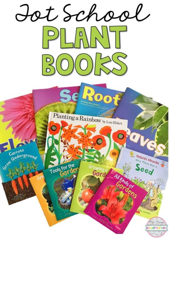5 great books to read aloud for a plant theme. Perfect for tot school, preschool, or even kindergarten.