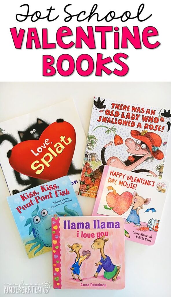 5 great books to read aloud for a valentine's theme. Perfect for tot school, preschool, or even kindergarten.