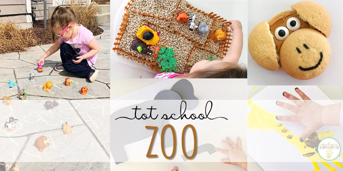Tons of zoo themed activities and ideas. Weekly plan includes books, literacy, math, science, art, sensory bins, and more! Perfect for tot school, preschool, or kindergarten.