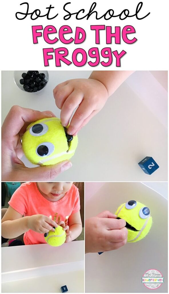 This feed the froggy activty was such a fun and challenging fine motor activity with a spring theme. Great for tot school, preschool, or even kindergarten!
