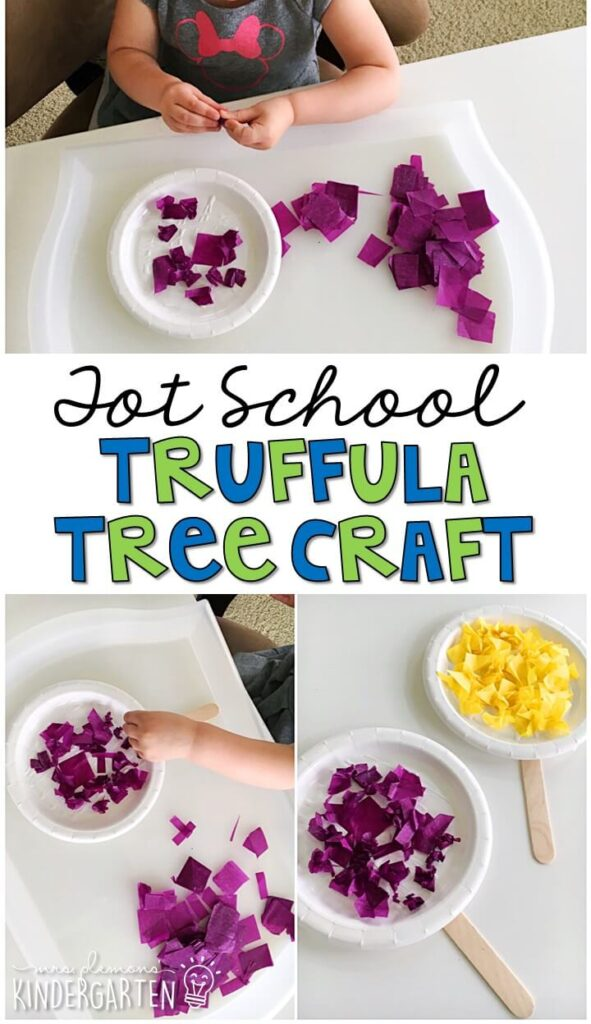 We had so much fun making these truffula trees for our Earth Day theme. Great for spring in tot school, preschool, or even kindergarten!