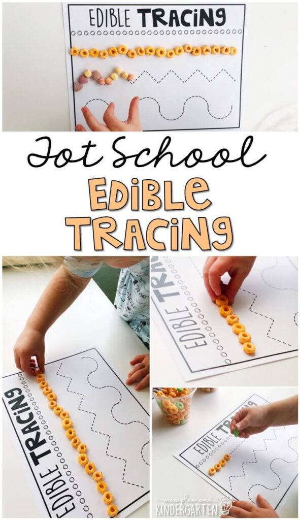 Practice fine motor skills with these edible tracing pages. Great for a five senses theme in tot school, preschool, or even kindergarten!