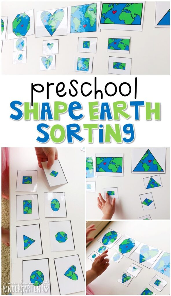 Practice sorting with this recycle color sorting activity. Perfect for an Earth Day theme in tot school, preschool, or even kindergarten!