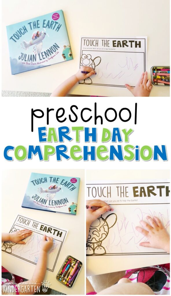 "Practice reading comprehension with ""Touch the Earth"" by Julian Lennon. Great for an Earth Day theme in tot school, preschool, or even kindergarten!"