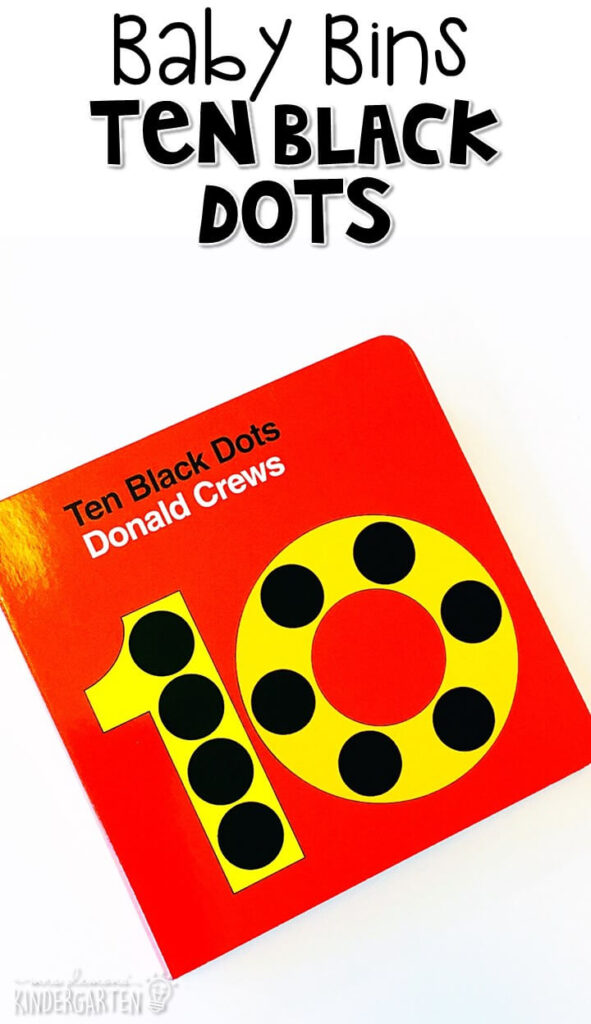 Ten Black Dots is one of our favorite black themed read aloud. These Baby Bin plans are perfect for learning with little ones between 12-24 months old.