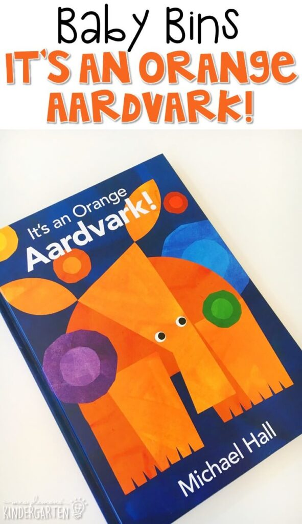 It's an Orange Aardvark is our favorite orange themed read aloud. These Baby Bin plans are perfect for learning with little ones between 12-24 months old.