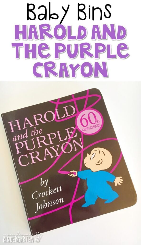 Harold and the Purple Crayon is our favorite purple themed read aloud. These Baby Bin plans are perfect for learning with little ones between 12-24 months old.
