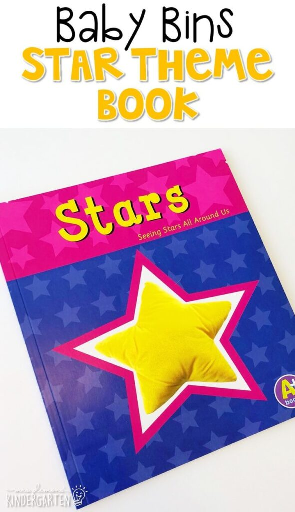 Stars by Sarah L. Schuette is a great book for showing stars in the real world and you can make it interactive by hunting stars on each page. These Baby Bin plans are perfect for learning with little ones between 12-24 months old.