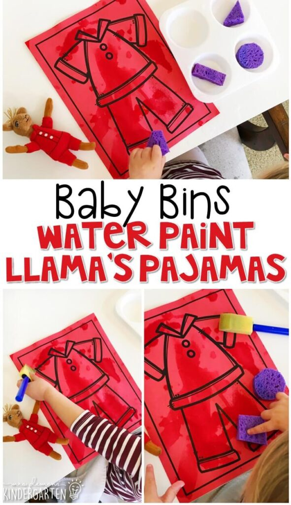 This water painting activity is great for learning the color red and it is a completely baby safe way to paint. Baby Bins are perfect for learning with little ones between 12-24 months old.