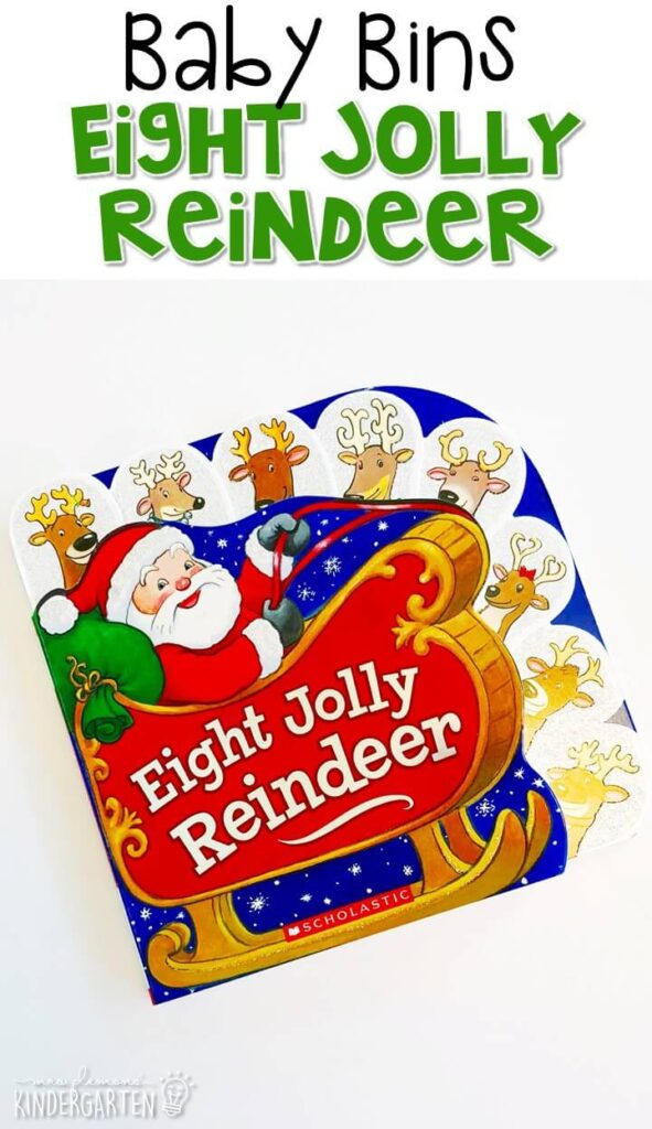 Eight Jolly Reindeer is one of our favorite Christmas themed read alouds. These Baby Bin plans are perfect for learning with little ones between 12-24 months old.